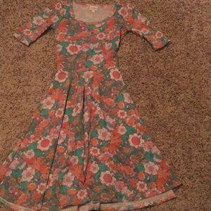 LuLaRoe XXS Ana Floral Dress.